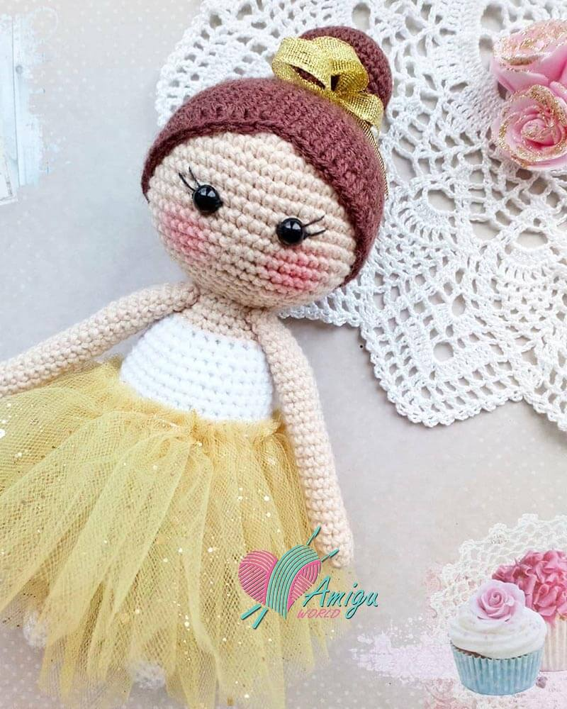 Crochet Amigurumi Hello Kitty Ballerina Free Pattern [Video ... | 1000x800