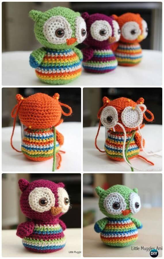 Crochet Cute Owls Tutorial Free Patterns   Rina Watt Blogger ...   900x570