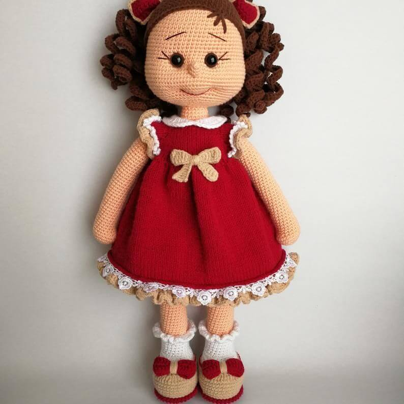 Crochet Doll - Free Tutorial & Pattern (With images) | Crochet ... | 794x794
