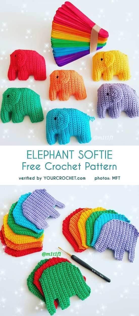 Wall Hanging Crochet Decoration - Crochet Elephant - Crochet ball ...   1250x550