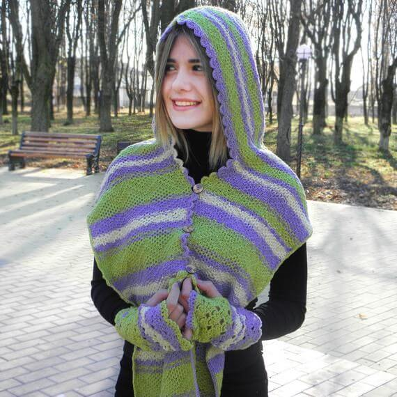 20 Crochet Hoodie Scarf Scoodie Free Patterns For 2020