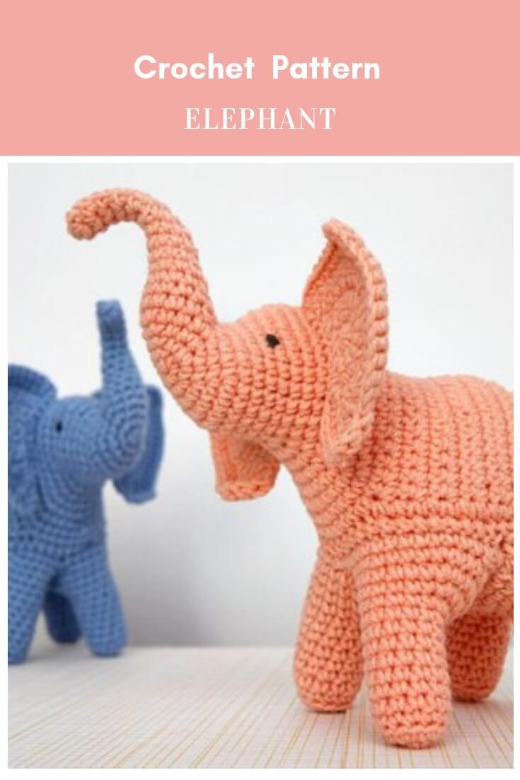 Cuddle and Play Elephant Baby Blanket Crochet Pattern | Crochet Arcade | 1102x735