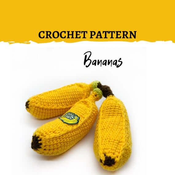 Ravelry: Amigurumi Banana pattern by Barbara Strasser | 570x570