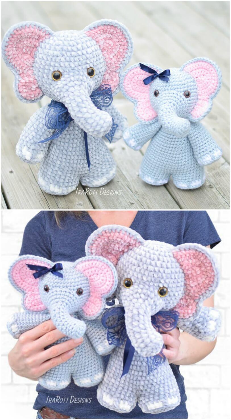 PINK ELEPHANT Amigurumi Baby Gift Crochet Toy Nursery   Etsy   1474x813
