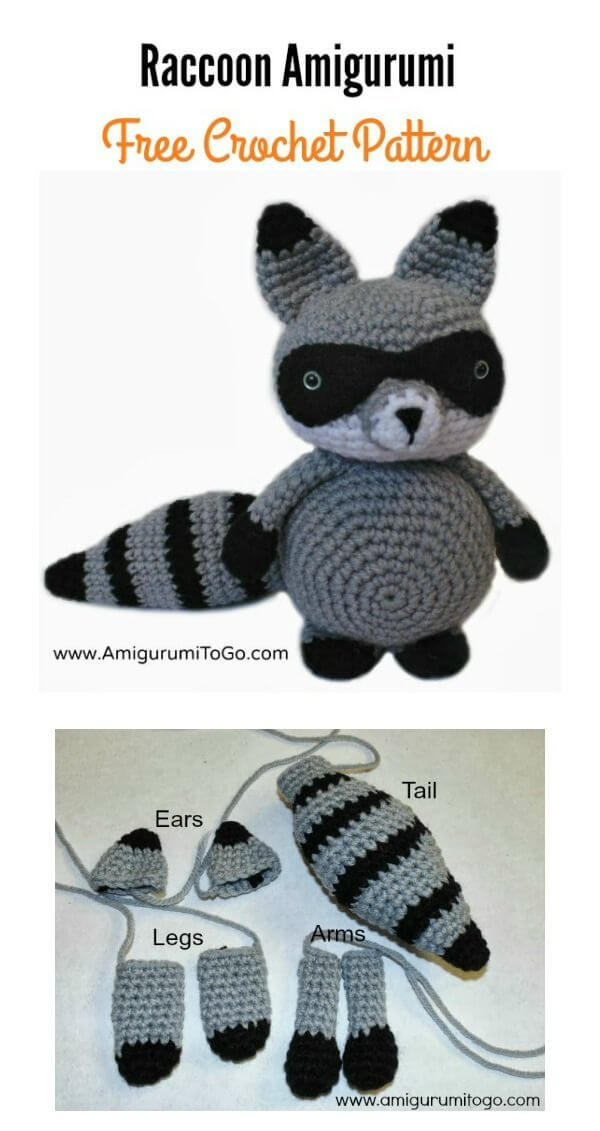 Cuddle Me Raccoon amigurumi pattern - Amigurumi Today | 1131x600