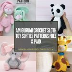 Amigurumi Crochet Sloth Toy Softies Patterns