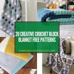 20+ Creative Crochet Block Blanket Free Patterns (With Tutorials)