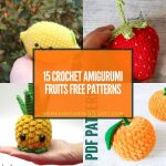 15 Crochet Amigurumi Fruits Free Patterns