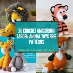 20 Crochet Amigurumi Garden Animal Toys Free Patterns