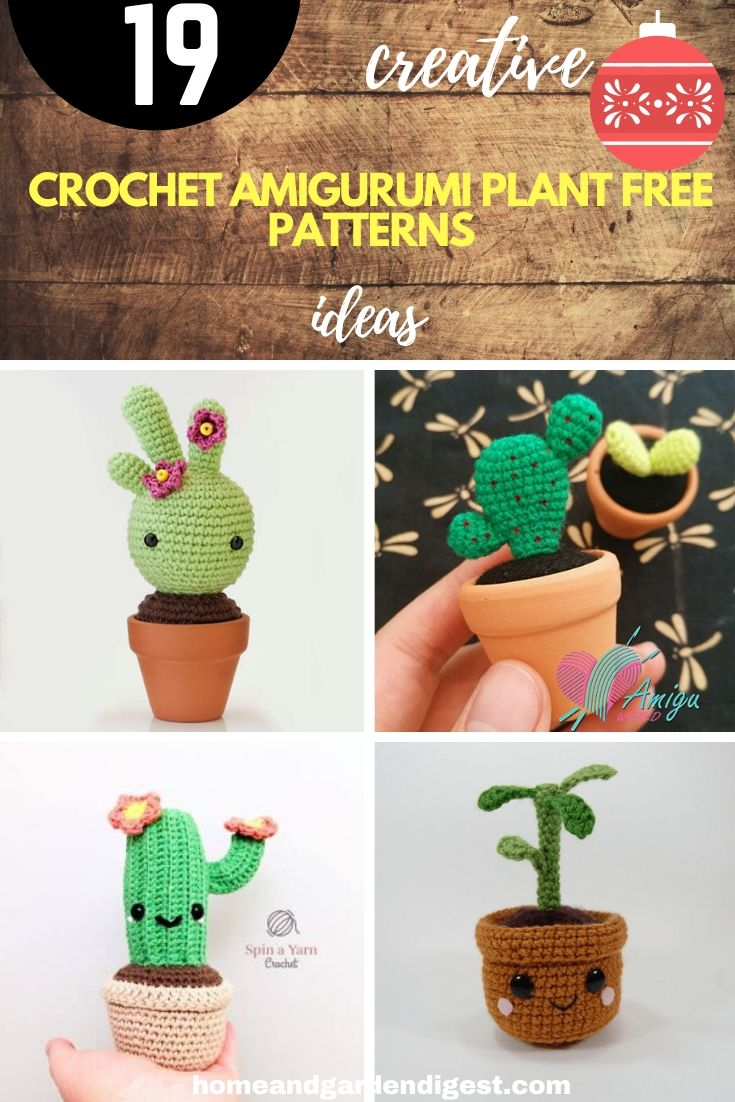 13 Spunky Crochet Cactus Patterns | 1102x735