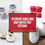 20 Crochet Ankle High Baby Booties Free Patterns