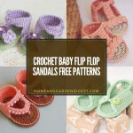 20 Crochet Baby Flip Flop Sandals Free Patterns