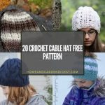 20 Crochet Cable Hat Free Pattern