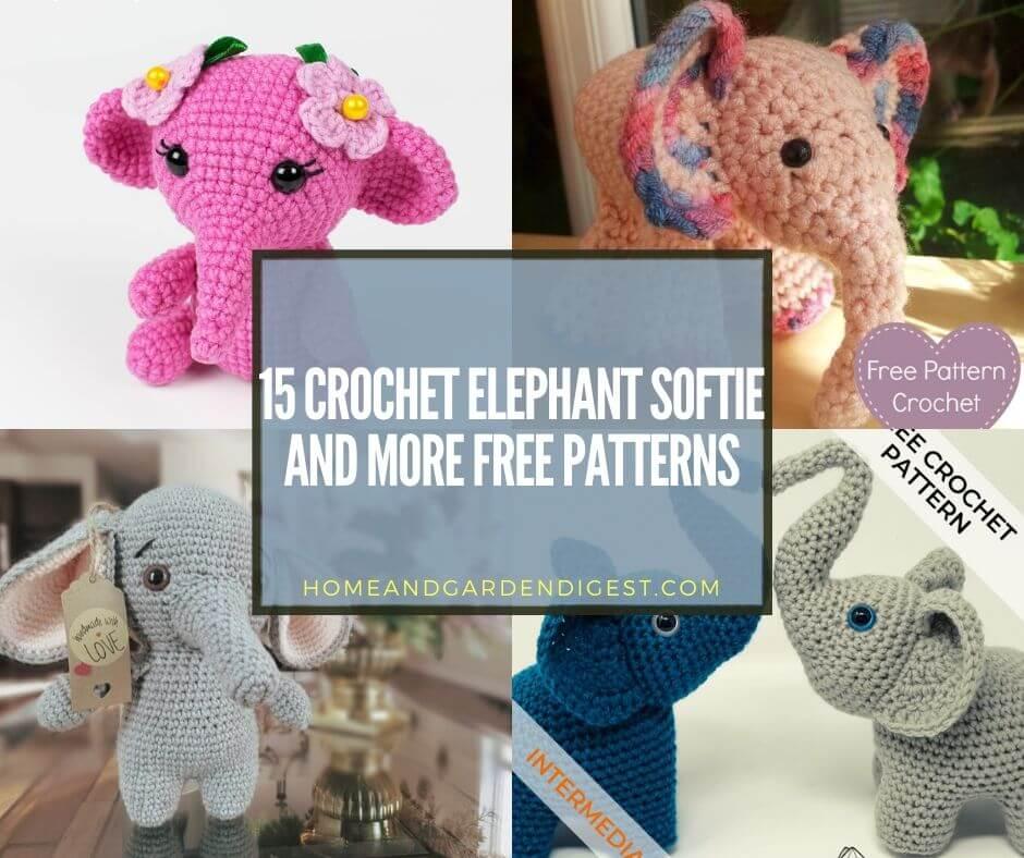 Elton the Elephant Free Crochet Pattern - Stuffed Hearts | Crochet ... | 788x940