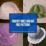 15 Crochet Girls Sun Hat Free Patterns