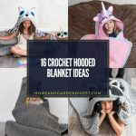16 Crochet Hooded Blanket Ideas