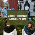 20 Crochet Hoodie Scarf Scoodie Free Patterns