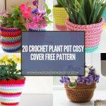 20 Crochet Plant Pot Cosy Cover Free Pattern