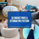 20 Crochet Poofs & Ottoman Free Pattern
