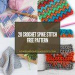20 Crochet Spike Stitch Free Pattern