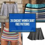 20 Crochet Women Skirt Free Patterns