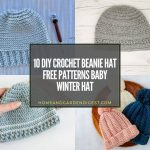 10 DIY Crochet Beanie Hat Free Patterns Baby Winter Hat
