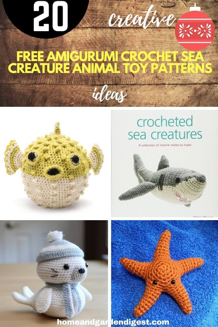 Best Amigurumi Sea Creatures Free Patterns | Crochet patterns ... | 1102x735