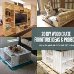 20 DIY Wood Crate Furniture Ideas & Projects