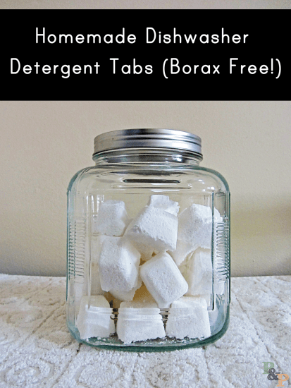 You can either make laundry detergent tabs