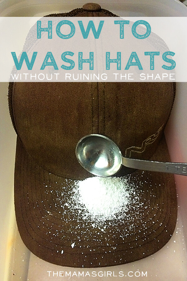 Use the best technique to wash your dirt baseball cap