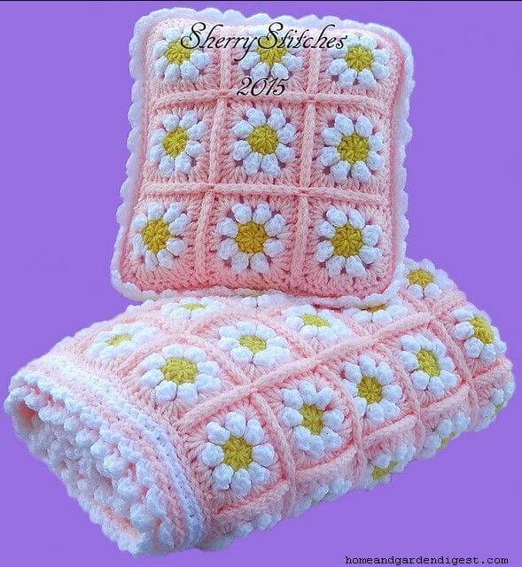 Princess daisy flower blanket