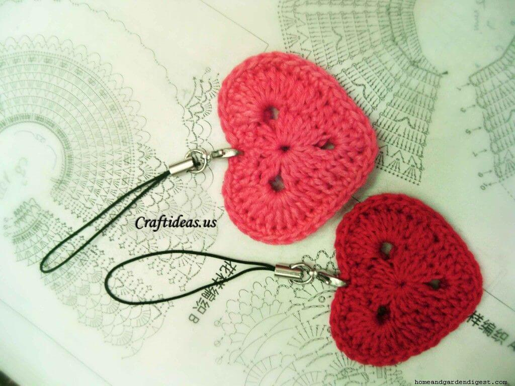 Crochet heart Key-chain