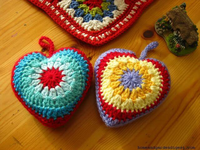 Sunburst crochet Heart patter