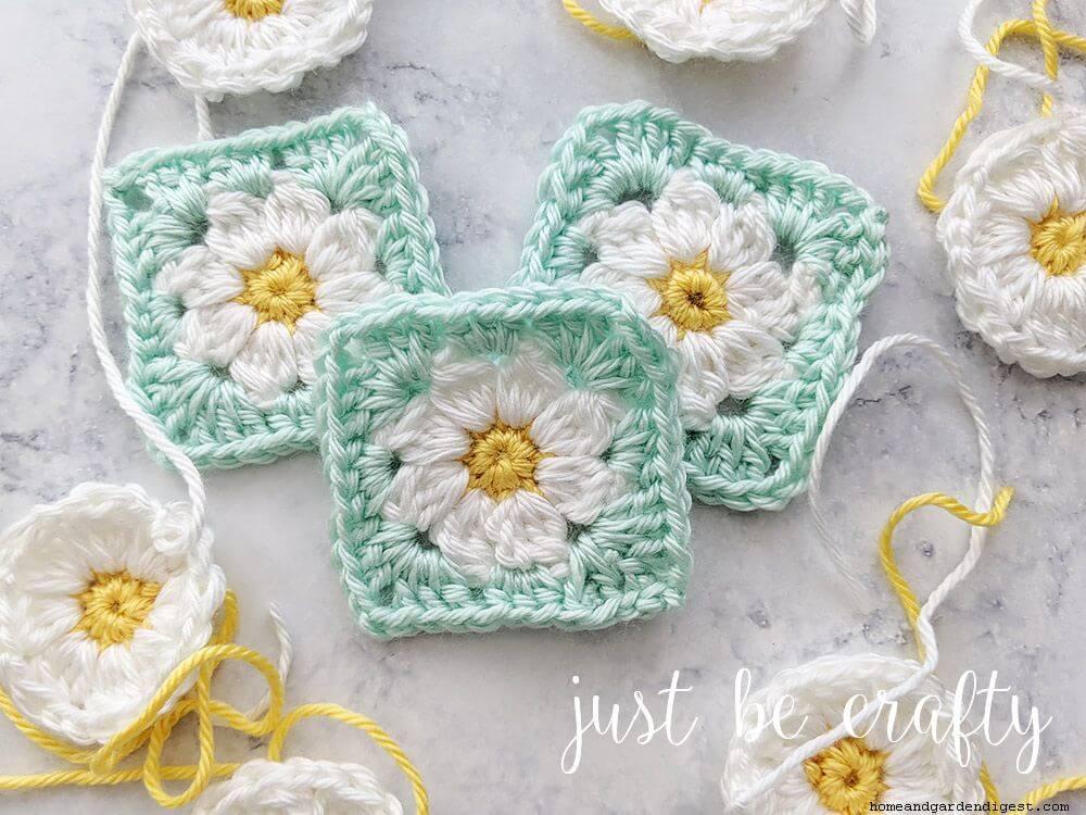 Granny square daisy love