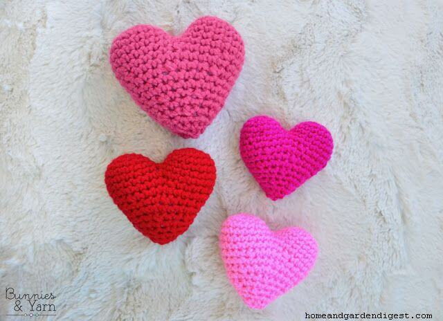 Crochet 3D love Heart