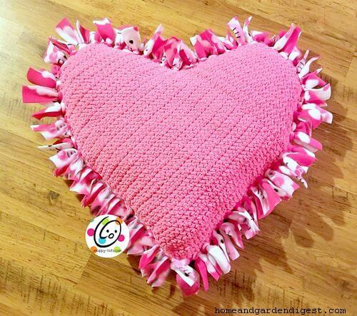Giant squishy heart pillow