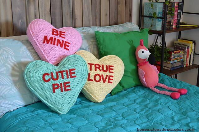Conversation heart pillow
