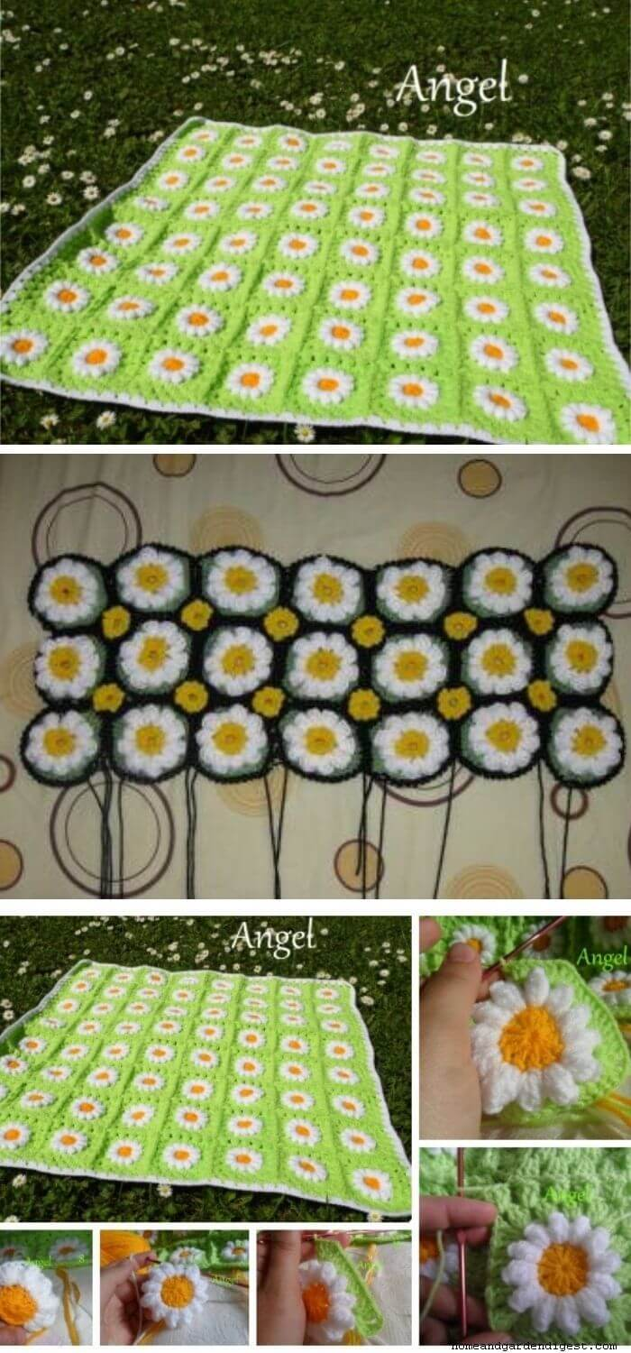 Field of daisy blanket