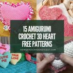 15 Amigurumi Crochet 3D Heart Free Patterns