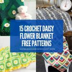 15 Crochet Daisy Flower Blanket Free Patterns