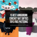 15 Beautiful Amigurumi Crochet Bat Softies Toys Free Patterns