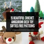 15 Beautiful Crochet Amigurumi Deer Toy Softies Free Patterns