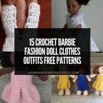 15 Crochet Barbie Fashion Doll Clothes Outfits Free Patterns