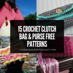 15 Crochet Clutch Bag & Purse Free Patterns