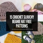 15 Crochet Slouchy Beanie Hat Free Patterns