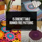 15 Crochet Table Runner Free Patterns