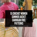 15 Crochet Women Summer Jacket Cardigan Free Patterns