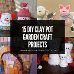 15 DIY Clay Pot Garden Craft Projects