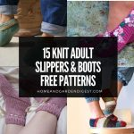 15 Knit Adult Slippers & Boots Free Patterns