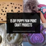 15 DIY Puppy Paw Print Craft Projects
